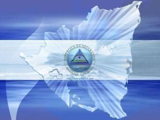 BANDERA-Y-MAPA-DE-NICARAGUA