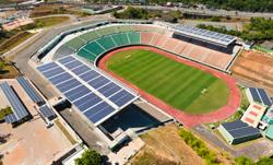 Estadio de Pernambuco con placas solares